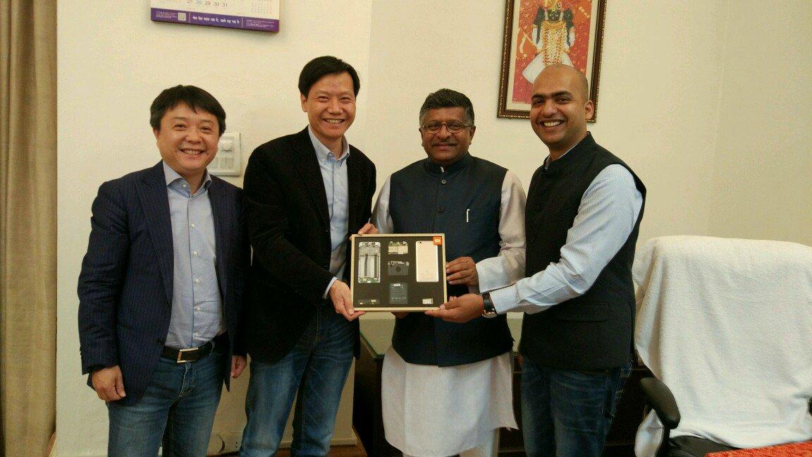 Xiaomi CEO Lei Jun & VP Manu Kumar Jain Meets PM Modi